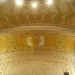 Ceiling in the auditorium