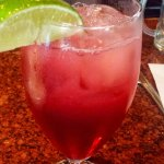 CRANBERRY JUICE WITH A MIX OF LIME JUICE