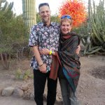 This is a photo of my husband and me a couple of years ago in the Payson Botanical Garden.