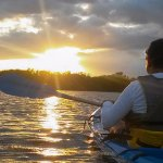 One of Golfo Dulce's spectacular sunsets. From a kayak, even better.