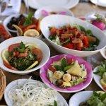 An array of fresh Lebanese Mezza to enjoy