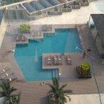 Vista de la piscina desde el piso 10