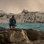 Overlooking the outlet glacier Svínafellsjökull