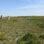 A stone circle in the quiet of the moor