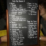 Partial Belgian Beer Menu
