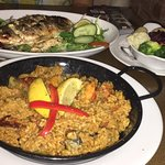 Paella and fish of a day-Seabream #it was just amazing #most delicious and full of flavour fish