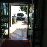 Doorway to road walk to the sun terrace