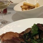 Delicious ribeye served at Reserve paired with a nice glass of your favorite wine!