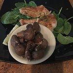 Grilled Fish w/mushrooms