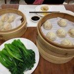 Sauteed Choy Sum and Xiao Long Bao
