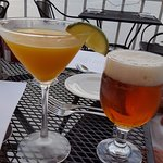 Mango Ginger martini and beer