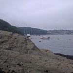 At the Boddinick side of Fowey, looking East. This is 1 'block' from the Old Ferry Inn.
