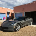 My Corvette, parked outside her own private garage!