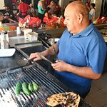 Fresh grilled jalapeños, the best, and hot too
