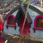 One of the kids walk Sooty Owl house