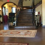 The beautiful staircase in the tasting room