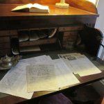 Desk inside the home with presidential letters