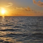Beautiful sunrise from the beach