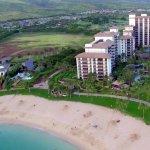 Aerial Shot of Beach Villas