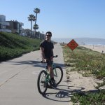 Nearby bike trail along the coast with free rental bicycle
