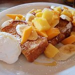 Hawaiian Big Island French Toast with pineapple, papaya and banana