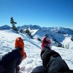 Brunch on top of patsy overlooking Alta ski resort