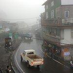 The misty Darjeeling from the train