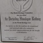 The darjeeling heritage mountain Railway- a certificate of pride