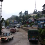 A view of Darjeeling from the train