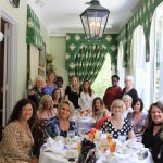 Our ladies group enjoying lunch in the tea room.