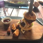 The Breakfast Burger - part of their lunch deal (3 courses for 1,100 LKR)