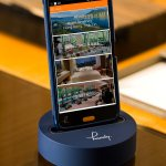 Complimentary handy smartphone in guestroom