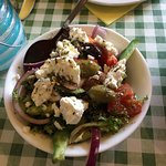 Amazing mezze and wine for vegetarians and non veggie too! Like being back in Greece!