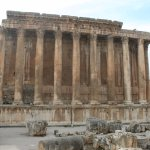 The temple of Bacchus, the god of wine