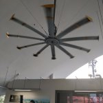 Massive fan at the platform.