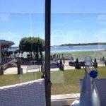 a superb view across Christchurch harbour