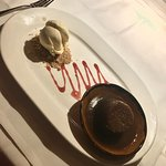 Delicious sticky toffee pudding