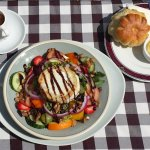 Warm Goats cheese salad with cottage or brioche roll