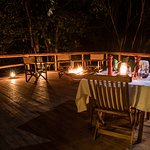 Dinner on the Forest Deck at Offbeat Mara