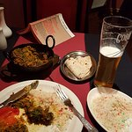 Fish curry, pilau rice and a Cobra beer