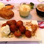 Delicious Greek desserts.