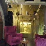 Inside left cornern. Harry Potter theme. Enjoy cupcakes or freshly baked sweets.