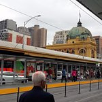 Station view from Flinders Street tram Station
