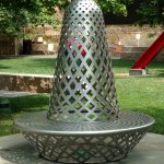? looks like a thimble, and a bench....