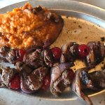 Park Grill Moonshine Cherry Beef Kabobs & Sweet Potato Casserole