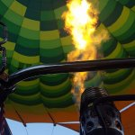 The excitement starts as the balloon inflates to the roar of the heaters