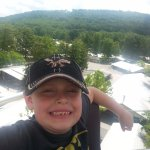 At the top of the Ferris Wheel!