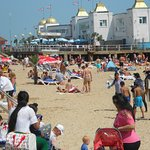 Clacton on Sea Pier on Sunday 9/7/17, a very hot day