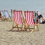 Lots of empty deckchairs!