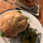 Roast Beef Sandwich (horseradish & arugula) + mac